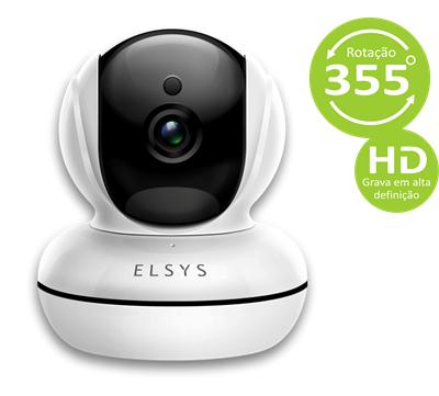 Câmera de segurança wi-fi HD com infra-vermelho Elsys  ESC-WR2