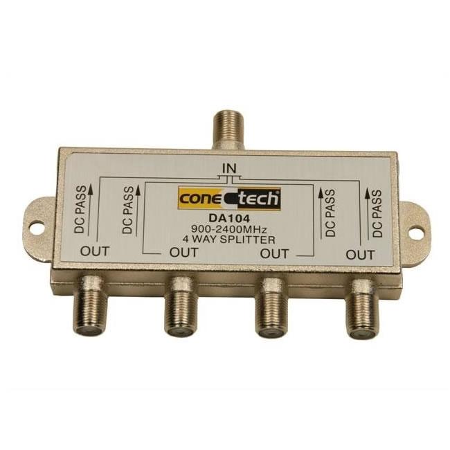 Divisor Conectech 1x4 Alta 900-2400mhz.